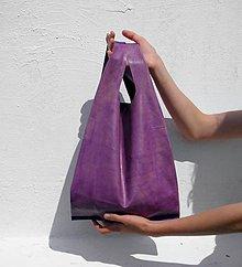 Veľké tašky - Kožená velká taška lila - 6839456_