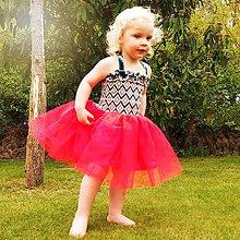 Detské oblečenie - Šaty s tylovou sukní - 6840009_