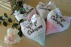 Darčeky pre svadobčanov - srdiečka - ružová s mentolom - 6841304_