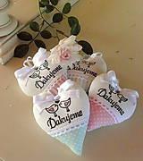 Darčeky pre svadobčanov - srdiečka - ružová s mentolom - 6841305_
