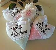 Darčeky pre svadobčanov - srdiečka - ružová s mentolom - 6841307_