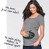 Tehotenské oblečenie - Tehotenské tričko - Odkaz vždy čerstvý - alebo tabuľa na tričku - 6841070_