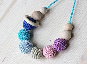 Detské doplnky - Kojací náhrdelník - farebný - 6840984_