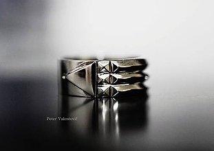 Prstene - Atlantský energetický prsteň - biele zlato 14K - 6840551_