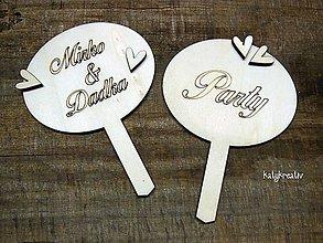 Dekorácie - zápichy do svadobnej torty - 6843294_
