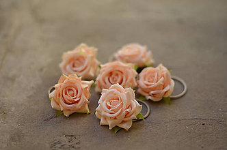 Ozdoby do vlasov - Marhuľové ruže - 6840694_