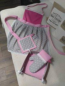 Úžitkový textil - Sada do kuchyne - ružová - 6840261_
