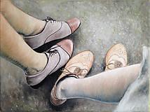 Obrazy - Obraz Topánky / Olej na plátne - 6840598_