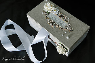 Krabičky - Svadobná krabica / Wedding box - 6839956_