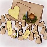 Darčeky pre svadobčanov - Darčeky pre svadobných hostí, menovky - ježkovia - 6841148_