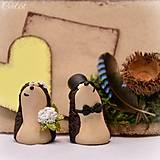 Darčeky pre svadobčanov - Darčeky pre svadobných hostí, menovky - ježkovia - 6841158_