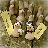Darčeky pre svadobčanov - Darčeky pre svadobných hostí, menovky - ježkovia - 6841168_