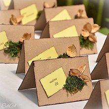 Darčeky pre svadobčanov - Svadba v lese - menovky pre svadobčanov - 6841115_