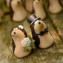 Darčeky pre svadobčanov - Darčeky pre svadobných hostí, menovky - ježkovia - 6841167_