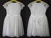 Detské oblečenie - Detské šaty z tylovej krajky s korálkami - 6840758_