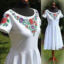 Šaty - Folk maľba na šaty... - 6841399_