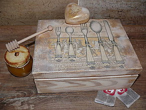 Krabičky - čajová krabica-darček pani učitelke :) - 6842672_