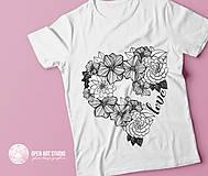 Tričká - Vymaľuj ma! Kreatívne tričko FLOWER POWER - 6843048_