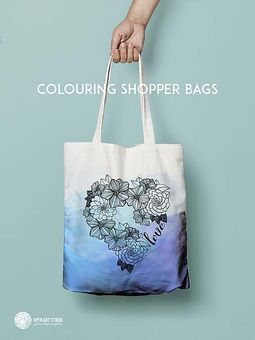 Vymaľuj ma! Kreatívna plátenná taška FLOWER POWER