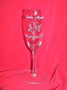 Nádoby - Svadobné poháre + gravirovanie 14 - 6841994_
