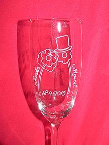Nádoby - Svadobné poháre + gravirovanie 15 - 6842233_
