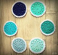 Úžitkový textil - háčkované podšálky - zima - 6840278_
