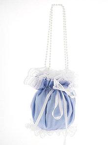 Kabelky - Pompadúrka modrá svadobná , kabelka pre nevestu 1L4 - 6844992_