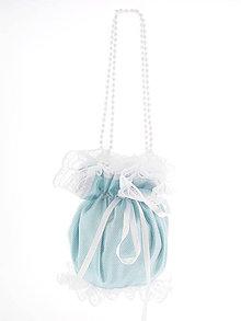 Kabelky - Pompadúrka modrá svadobná , kabelka pre nevestu 2L4 - 6845014_