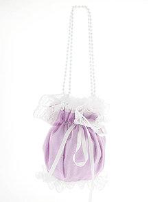 Kabelky - Pompadúrka fialová svadobná , kabelka pre nevestu 3L4 - 6845018_