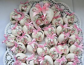 Darčeky pre svadobčanov - Srdiečka svadobné- 6cm - 6844972_
