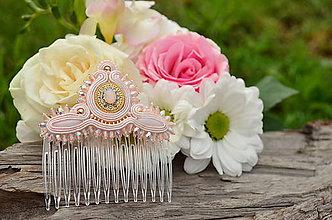 Náušnice - Soutache Soutache Svadobný hrebienok do vlasů Rose Love - 6843558_
