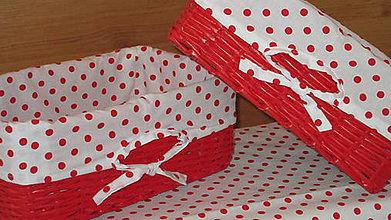 Košíky - Košíky-červená bodka - 6844594_