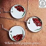 Sady šperkov - Ručne maľovaná sada šperkov - Divé Maky - 6843453_