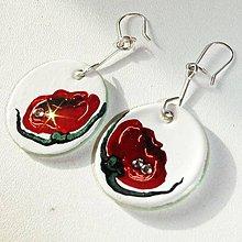 Sady šperkov - Ručne maľovaná sada šperkov - Divé Maky - 6843440_