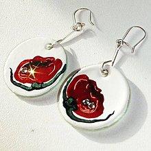 Sady šperkov - Ručne maľovaná sada šperkov - Divé Maky - 6843452_
