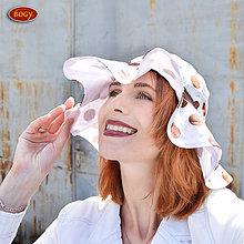 Čiapky - romantický klobouk s mega krempou a stužkou HNPU - 54-58cm, 55-59cm - 6846007_