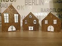 ZĽAVA 10% dekorácia - drevené domčeky v dedinke