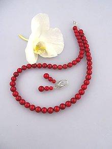 Sady šperkov - koral červený náušnice náhrdelník - 6844036_