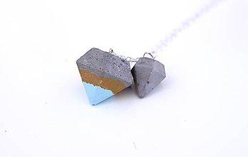 Náhrdelníky - Betónové diamanty s modrou - 6844663  01d94f08b24