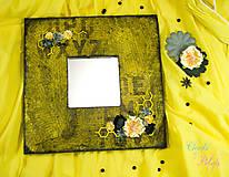 Zrkadlá - Žlté romantické zrkadlo s graffiti - 6843448_