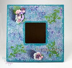 Zrkadlá - Romantické zrkadlo - be*you*tiful (modro-fialkové) - 6845640_
