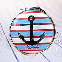 Zrkadielka - zrkadielko námornícke s kotvou - 6844834_