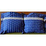 Úžitkový textil - Bavlnené romantické posteľné návliečky (Bielo-modré kombinované) - 6844659_