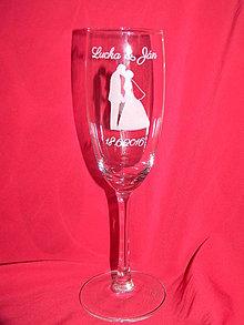 Nádoby - Svadobné poháre + gravirovanie 17 - 6843469_