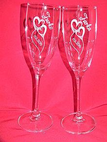 Nádoby - Svadobné poháre + gravirovanie 18 - 6843591_
