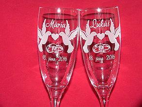 Darčeky pre svadobčanov - Svadobné poháre + gravírovanie 6 - 6843716_