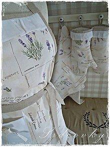 Úžitkový textil - Zástera s levanduľovým vzorom - 6844829_