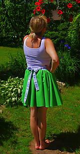 Sukne - zelená sukňa - 6844628_