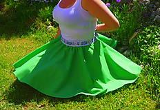 Sukne - zelená sukňa - 6844631_