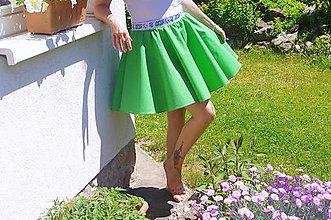 Sukne - zelená sukňa - 6844633_